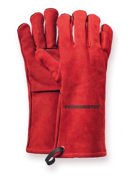 Grillhandschuhe Spaltleder rot (Paar), Gr. 12