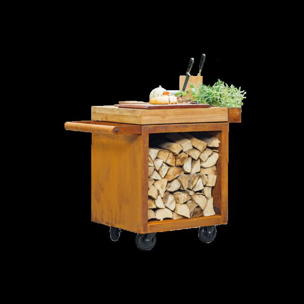 Mise en Place Table Corten PRO 65 Teak Wood