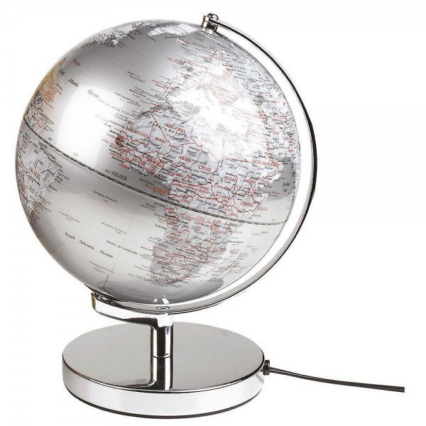 "Globe Light 10"" Silver EU"