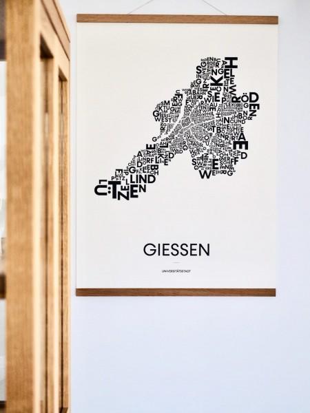 """Poster - """"Gießen in Worten"""" 50x -70 cm"""