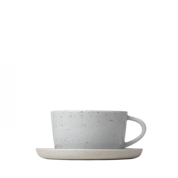 Set 2 Kaffeetassen mit Untertassen SABLO