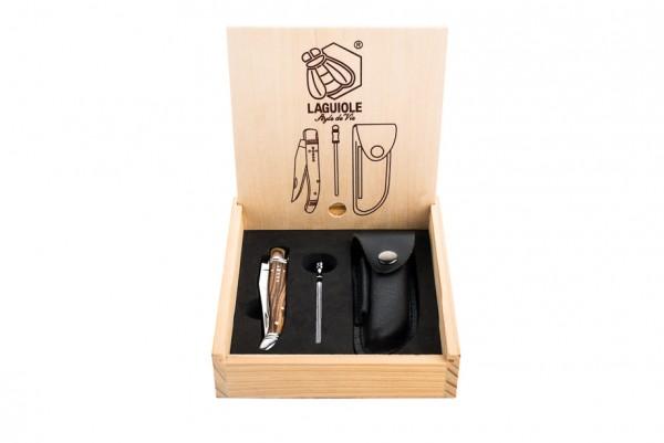 Laguiole Taschenmesser mit Ledertasche
