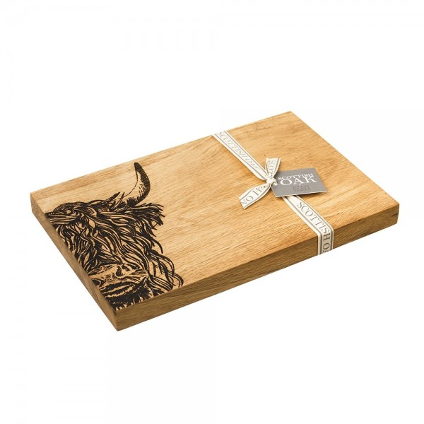 Etched Highland Cow Serving Board 30cm