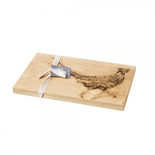 Etched Pheasant Oak Serving Board